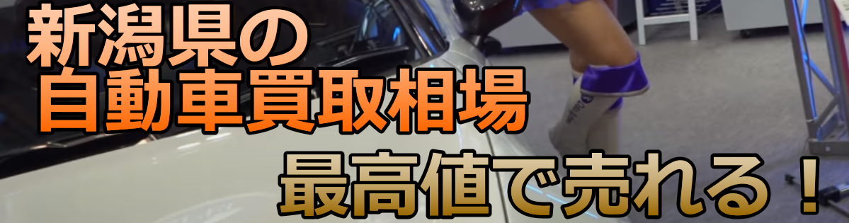 新潟県の自動車買取相場 最高値で売れる!