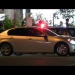 緊急走行!!3連発!!警視庁覆面パトカー V36スカイライン マークX アリオン と 赤上げキザシ Japanese Police Car