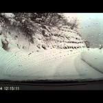 新雪ラッセル走行 エスティマ・ハイブリッド(4WD)