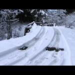 エスクード 雪の林道  Suzuki Grand Vitara V6  3.2
