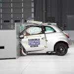 2013 Fiat 500 small overlap IIHS crash test 【フィアット】
