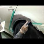 東京都 東大和市よりご来店 BMW 525iの板金・塗装・修理作業です。【板金塗装なら東京立川市のガレージローライド】