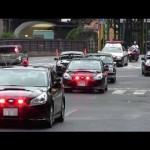 警視庁 警護車 BMレガシィで固めた皇族車列  覆面パトカー POLICE CAR SUBARU LEGACY 2013.8.21