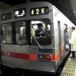 東急田園都市線、朝の通勤ラッシュ時間