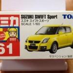 絶版トミカシリーズ スズキ スイフトスポーツ [ミニカー miniature car]