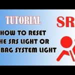 How to reset SRS Airbag indicator light 【エアバッグ】