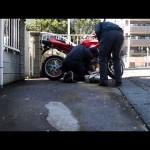 某バイク出張買取の光景