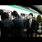 【HD】平日朝ラッシュ@千代田線北千住駅①(綾瀬始発Ver.)