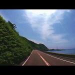 青空の日本海沿い国道8号線ドライブ (新潟県糸魚川筒石~能生)