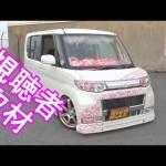 ギャル車タント!? 桜吹雪!ギャップがやばい! 取材シリーズ!Vol.35 (DAIHATSU TANTO low slung car)