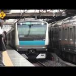 京浜東北線上野駅 ラッシュ時の超過密運転 Tokyo Busy JR Keihin-Tohoku Line