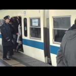 小田急線 登戸駅のラッシュアワー (Noborito Station during rush hour in Japan)