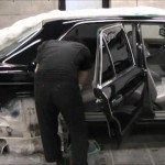 Benz 500SE (W126) の板金塗装修理. 千葉県からのご依頼|荒川区の和光自動車