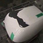 バイクの部品(BMW R1200RT用パニアケース)の板金塗装修理.埼玉県のお客様|荒川区の和光自動車