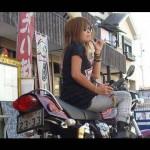美しすぎる美女ライダー Kawasaki ZEPHYR 750 ZR750 茨城県