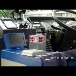 路線バス 運転席 HINOブルーリボンシティ 5速FFシフト 2012.7