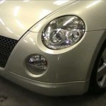 Daihatsu Copen (L880K) の板金塗装修理.東京都のお客様|荒川区の和光自動車