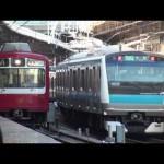 【京急】最混雑区間の過密 朝ラッシュ横浜駅 1 Japan Yokohama Trains Rush Hour