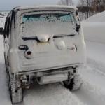 ジムニー 冬道で調子に乗ると!!! 2013 From the north country