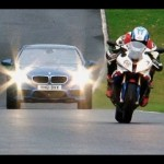 New BMW M5 vs BMW S1000RR superbike 【ビーエムダブリュ】