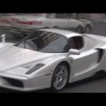 原宿を爆走するフェラーリ・エンツォ。Ferrari Enzo which lets an explosion sound.