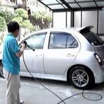 ケルヒャー高圧洗浄機でマーチ洗車