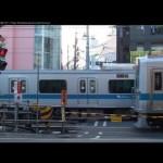 【朝ラッシュ】下北沢 開かずの踏み切り 3 Tokyo Shimokitazawa Busy Rail Crossing