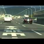 京都府警 高速道路交通警察隊 マークX覆面パトカー 取締の瞬間。
