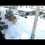 働く自動車、ロータリー除雪車・可動式ブレードブルドーザー
