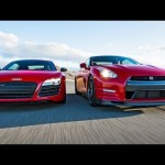 2014 Nissan GT-R Track Pack vs 2014 Audi R8 V-10 Plus! – Head 2 Head Episode 33 【日産・アウディ】