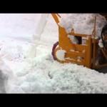 【22豪雪】除雪作業 ロータリー除雪車【秋田県湯沢市】