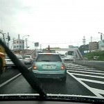東北自動車道 鶴巣P.Aより仙台市泉区市街へ 2011-7-27