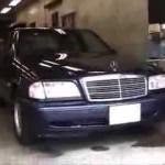 Benz C200 (W202) の天井生地の張替え修理.埼玉県のお客様|荒川区の和光自動車