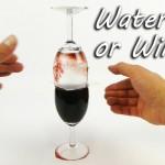 【パーティーネタ!手品みたい!】水とワインがグラス間で移動して入れ替わる実験!