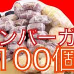 【凄い企画!】女の子がマクドナルドのハンバーガーを100個食べる企画!