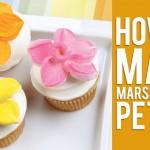 【かわいい!】マシュマロでお花を作る方法!