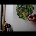 【凄い!】2歳の娘と母が作るスケッチブックアート!