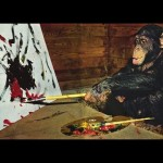 【これは驚き!】チンパンジーが現代アートの世界にデビューした結果・・・!?