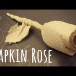 【とても上手!裏技】1枚の紙ナプキンでバラを作る方法!