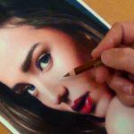 【綺麗!】ミランダ・カーの色鉛筆画!