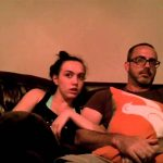【ワラタ!】ホラー映画を観る父と娘のリアクション!