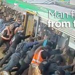 【感動】電車に乗る際に一人が困ったことになりホームの人達全員で救出!