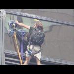 【レトロゲームのクレイジークライマーと比較!】ニューヨークのトランプタワーによじ登る人!