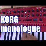 【アナログシンセサイザーの魅力が十二分に楽しめる!】KORG monologue(コルグ・モノローグ)の実演!