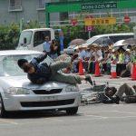 【自動車に乗るときは注意しよう!日本で最も交通安全を意識しなければならない香川県】スタントマンによる現場再現教室!